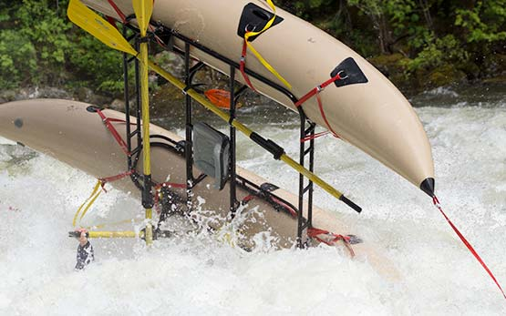 Whitewater Cataraft Flip