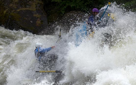 Whitewater Raft in Gigantic Hole